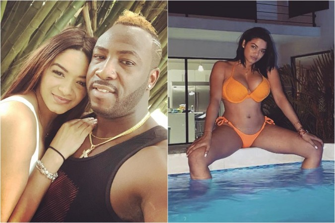 Andre Russell, wife Jassym Lora