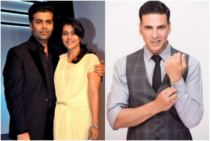 Kajol had a crush on Akshay Kumar, reveals Karan Johar