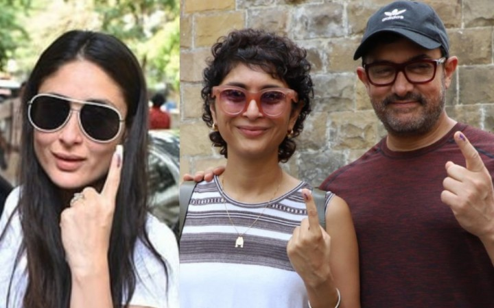 Kareena Kapoor Kiran Rao and Aamir Khan cast their vote