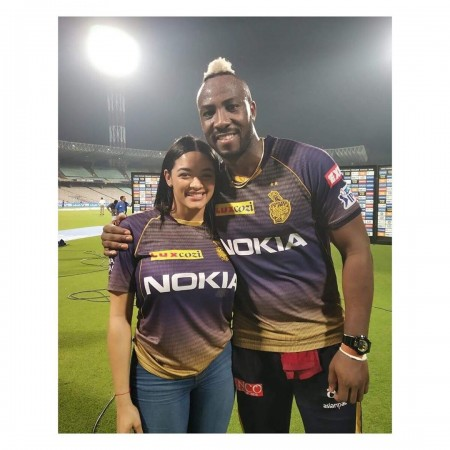 Image result for andre russell kkr candid