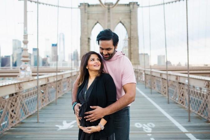 Vishnu Manchu with his pregnant wife Viranica Reddy