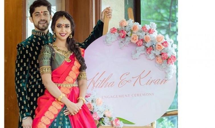 Hitha Chandrashekhar and Kiran Srinivas' engagement