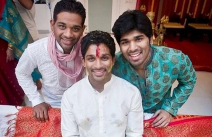 Allu Arjun with his brother Bobby and Sirish