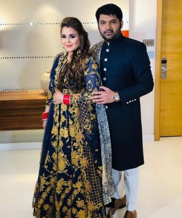 Kapil Sharma and wife Ginni Chatrath