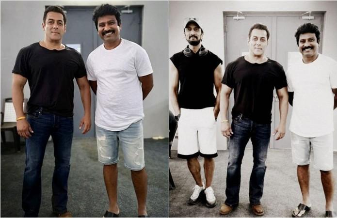 Salman Khan with Sudeep and Prem