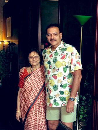 Ravi Shastri with his mother