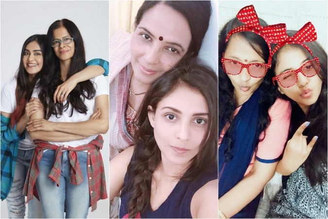 Adah Sharma, Madhu Shalini and Anjali with their monthers
