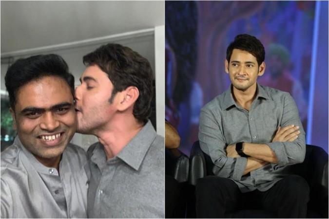 Mahesh Babu is seen kissing director Vamshi Paidipally at the success meet of Maharshi