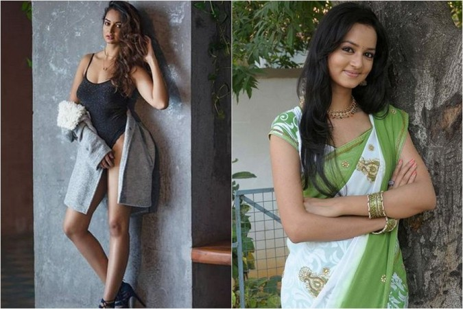 Shanvi Srivastava wearing monokini / swimsuit