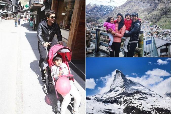 Allu Arjun enjoys Swiss vacay with family
