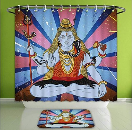 Amazon Indian god on shower curtain