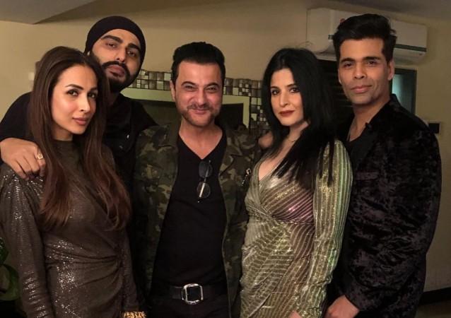 Malaika Arora, Arjun Kapoor, Sanjay Kapoor with wife Maheep Kapoor, Karan Johar