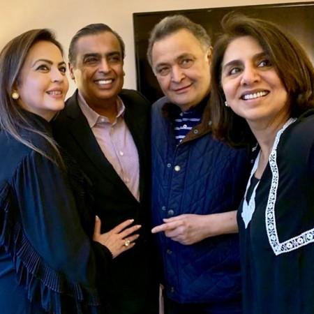 Nita Ambani, Mukesh Ambani, Rishi Kapoor, Neetu Kapoor