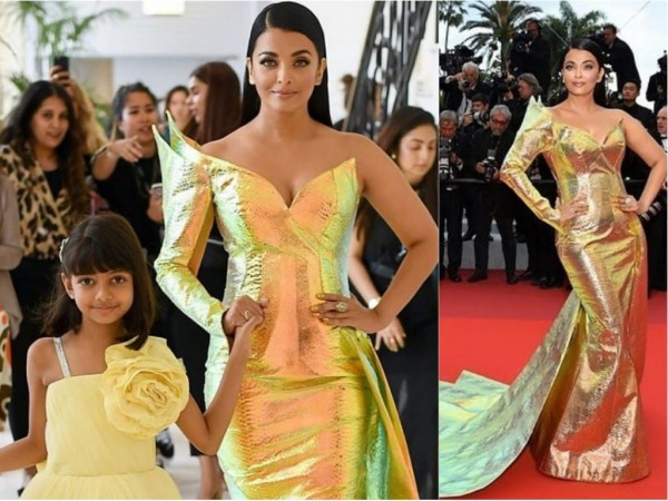 Aishwarya Rai Bachchan with daughter Aaradhya Bachchan at Cannes 2019