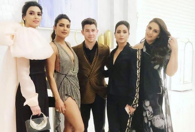 Diana Penty Priyanka Chopra Nick Jonas Hina Khan and Huma Qureshi at Cannes 2019