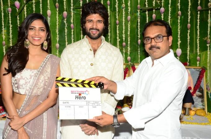 Vijay Devarakonda at the launch of his next movie Hero