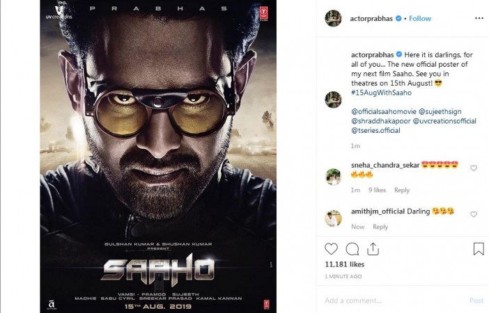 Prabhas first look in Saaho