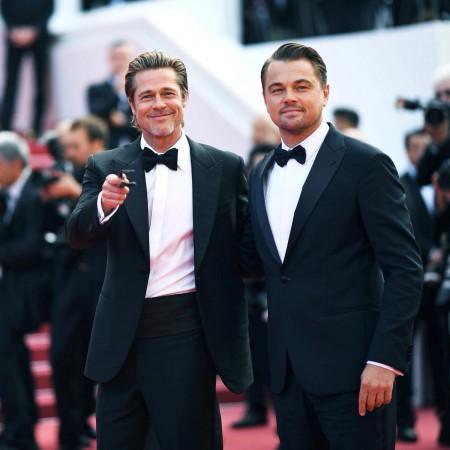 Brad Pitt and Leonardo DiCaprio at Cannes Film Festival