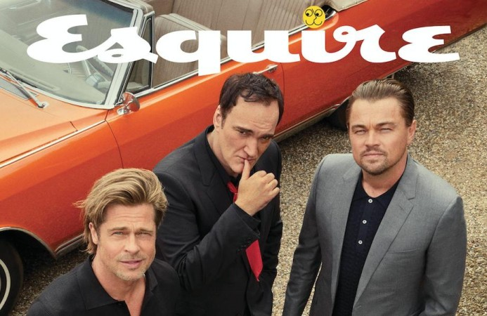 Brad Pitt, Quentin Tarantino and Leonardo DiCaprio on the cover of Esquire magazine