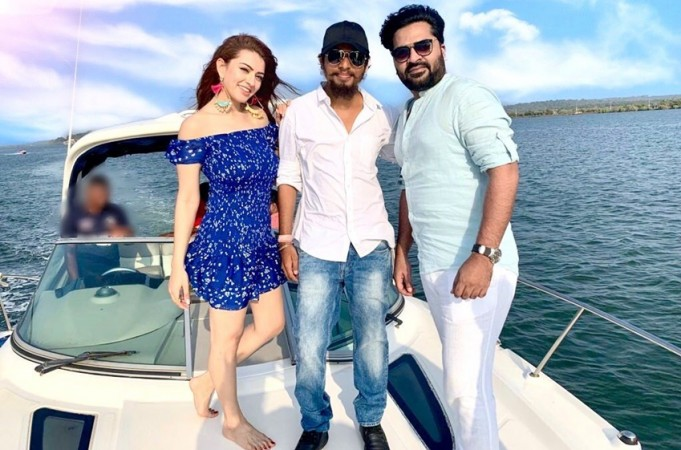 Hansika Motwani with UR Jameel and Simbu
