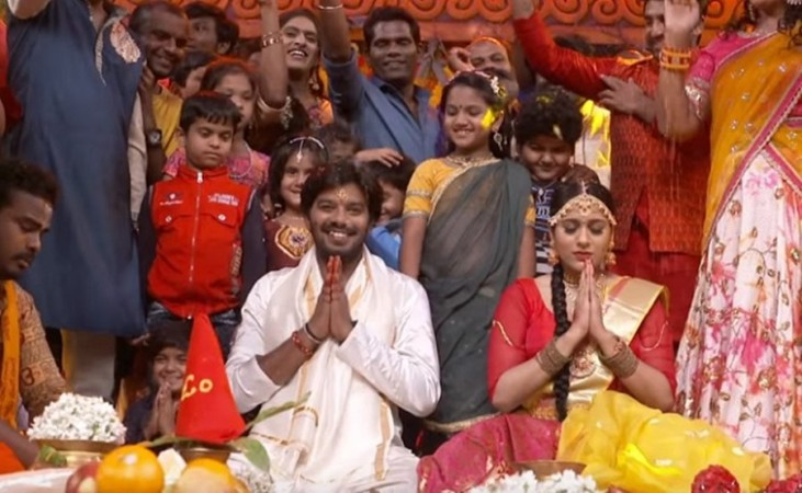 Sudigali Sudheer and Rashmi Gautam