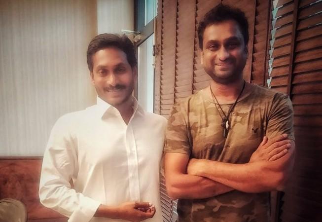 YS Jagan Mohan Reddy with director Mahi V Raghav