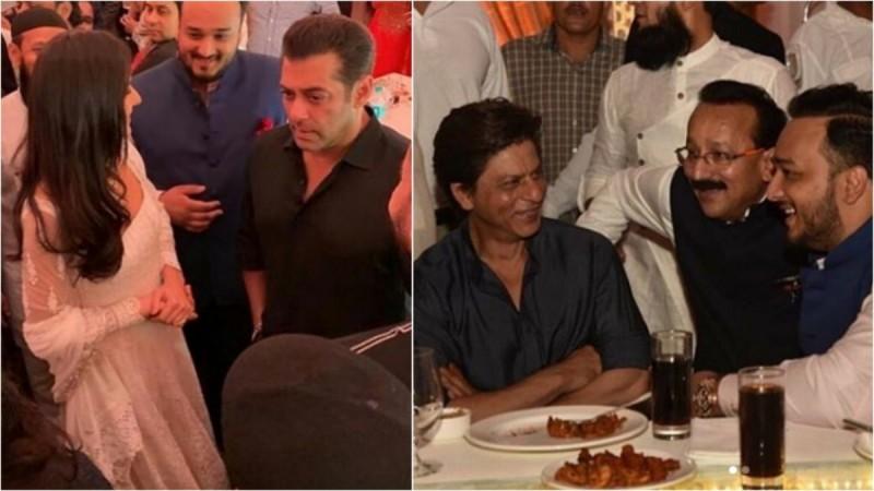 Salman Khan and Shah Rukh Khan at Baba Siddique Iftar Party 2019