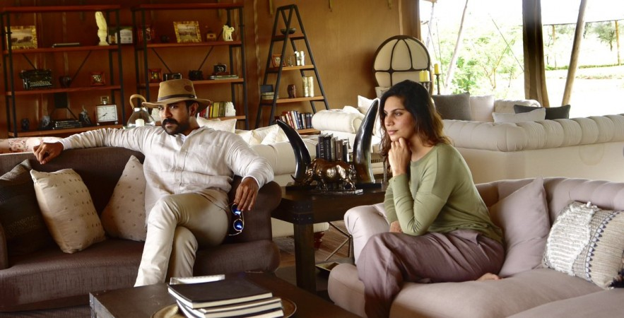 Ram Charan with his wife Upasana in Africa