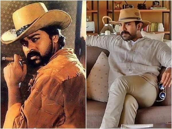 Chiranjeevi and Ram Charan's cowboy look