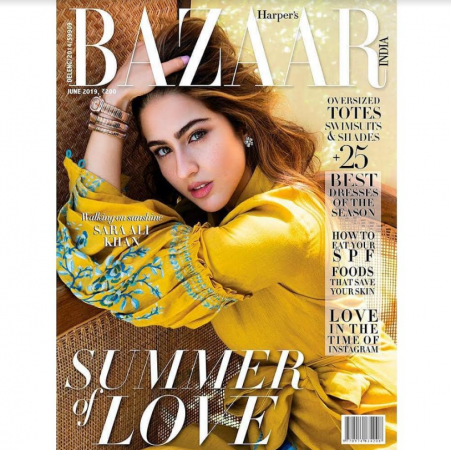 Sara Ali Khan on Harper magazine cover