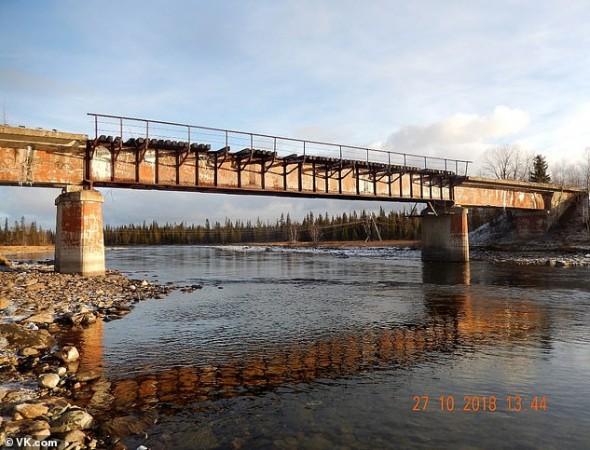 russian bridge missing