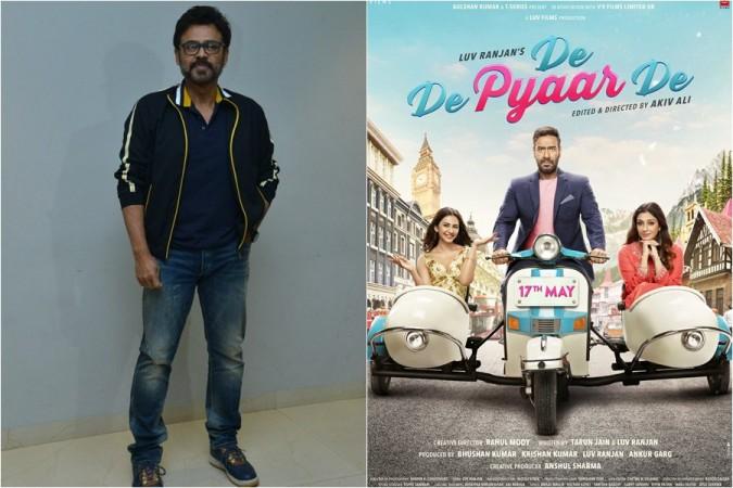 Venkatesh to play Ajay Devgn's role in De De Pyaar De Telugu remake