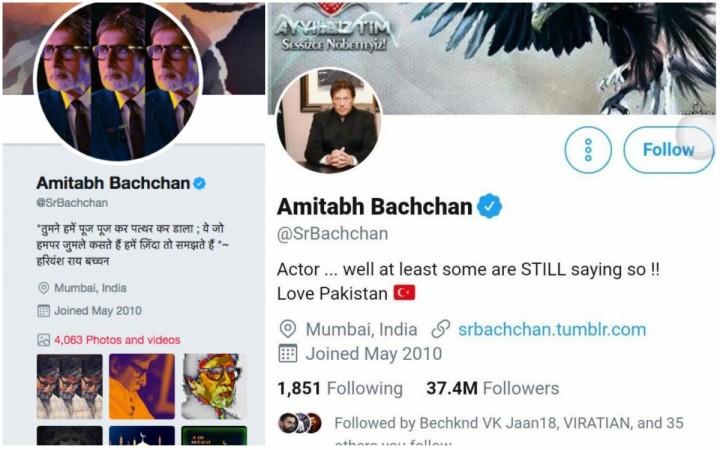 Amitabh Bachchan original and hacked Twitter handles