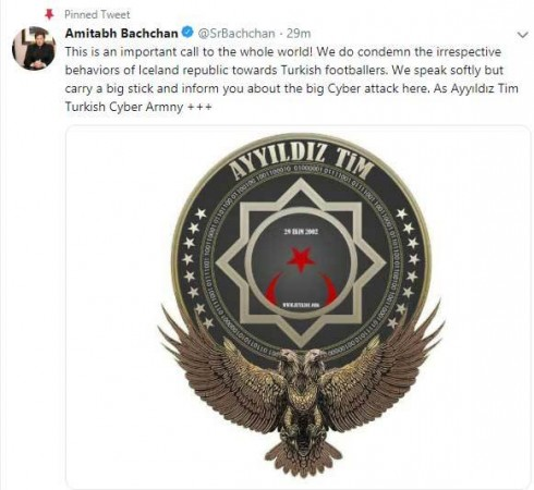 Amitabh Bachchan Twitter hacked by Turkish hackers