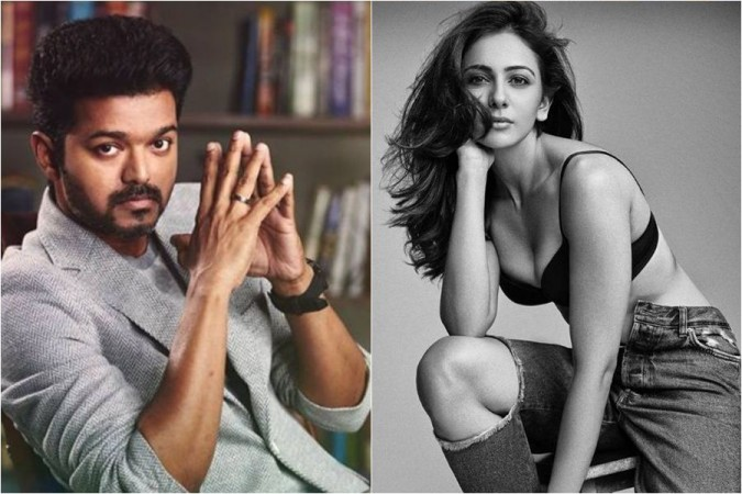Vijay and Rakul Preet Singh in Thalapathy 64