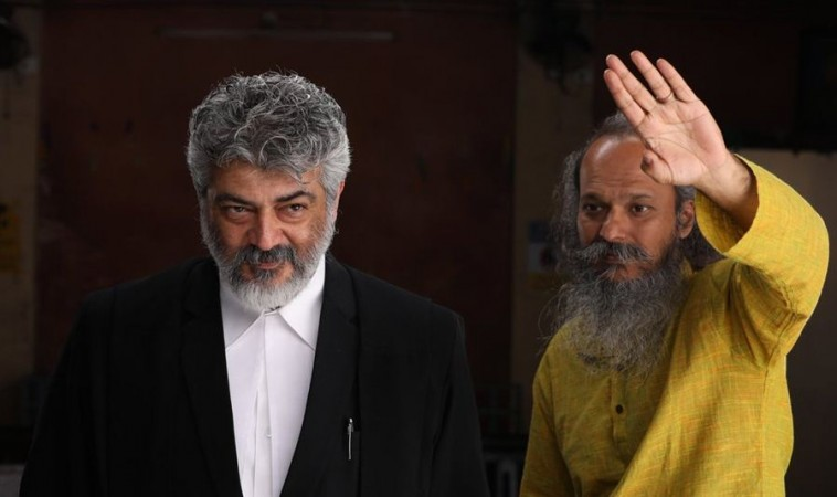 Ajith on the sets of Nerkonda Paarvai