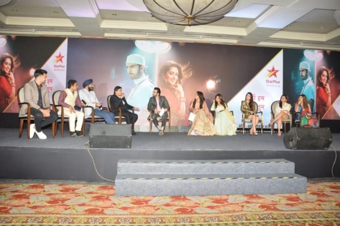 Lead pair Dipika Kakkar and Karan V Grover brought concept event of Star Plus's new show Kahaan Hum Kahaan Tum
