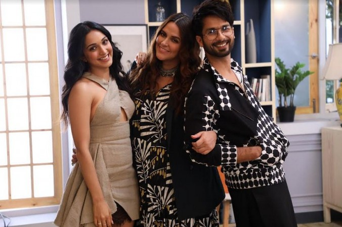 Shahid Kapoor with Neha Dhupia and Kiara Advani on BFFs with Vogue