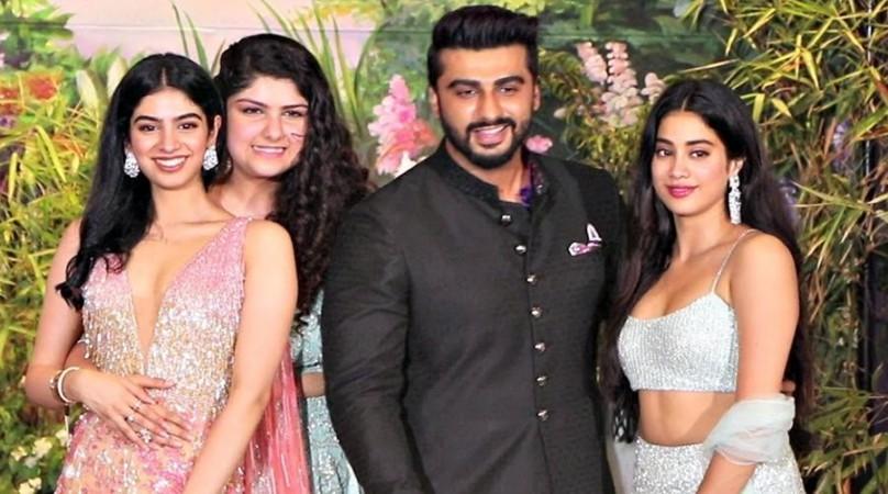 Khushi, Anshula, Arjun and Jhanvi Kapoor