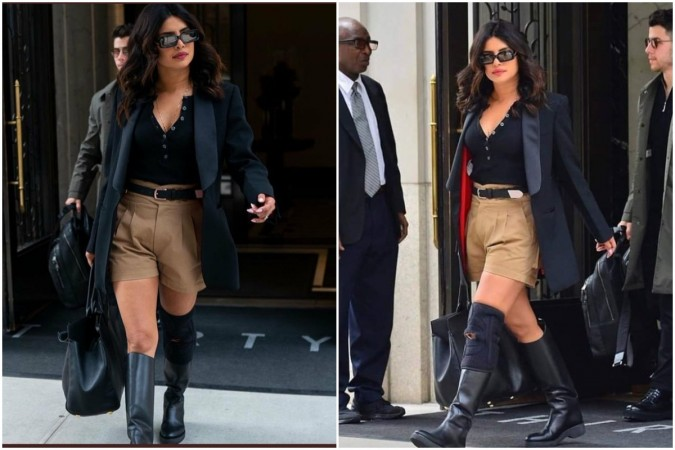Priyanka Chopra in Khanki shorts made people joke saying she has joined RSS