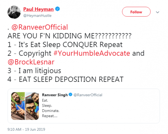 Paul Heyman tweet