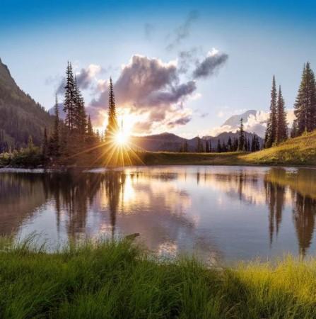 Summer solstice sun