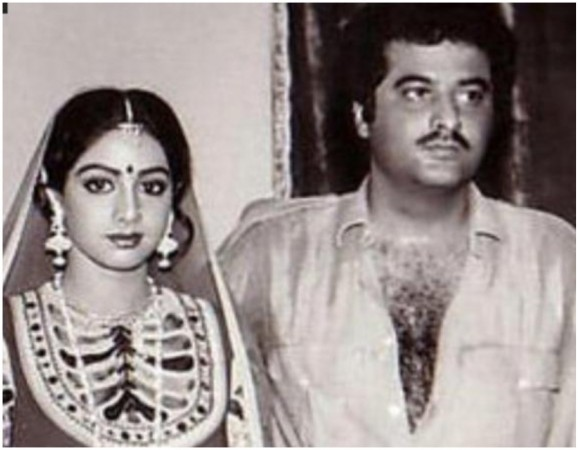 Sridevi and Boney Kapoor's first picture together
