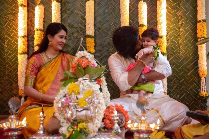 Yash-Radhika Pandit Daughter Ayra Naming Ceremony