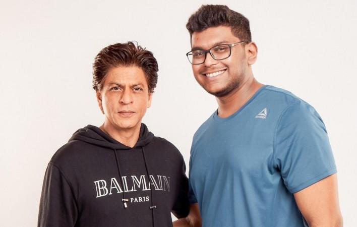 Harish Pednekar with Shah Rukh Khan
