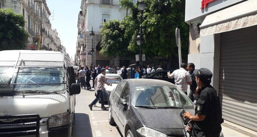 1st explosion site in Tunis and its vicinity