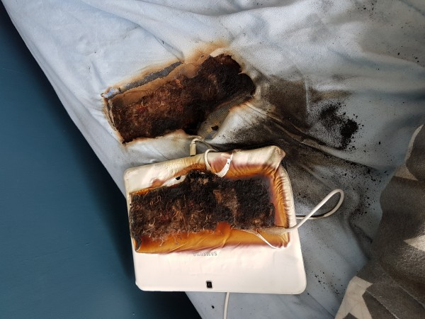 burnt tablet