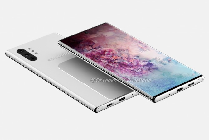 Samsung Galaxy Note 10  CAD renders