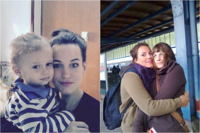 Missing German tourist Lisa Wiese with her son and sister