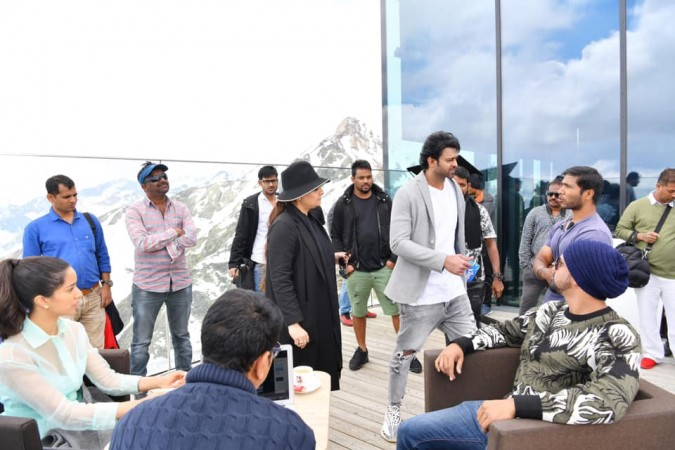 Prabhas and Shraddha Kapoor on the shooting set of Saaho in Austria
